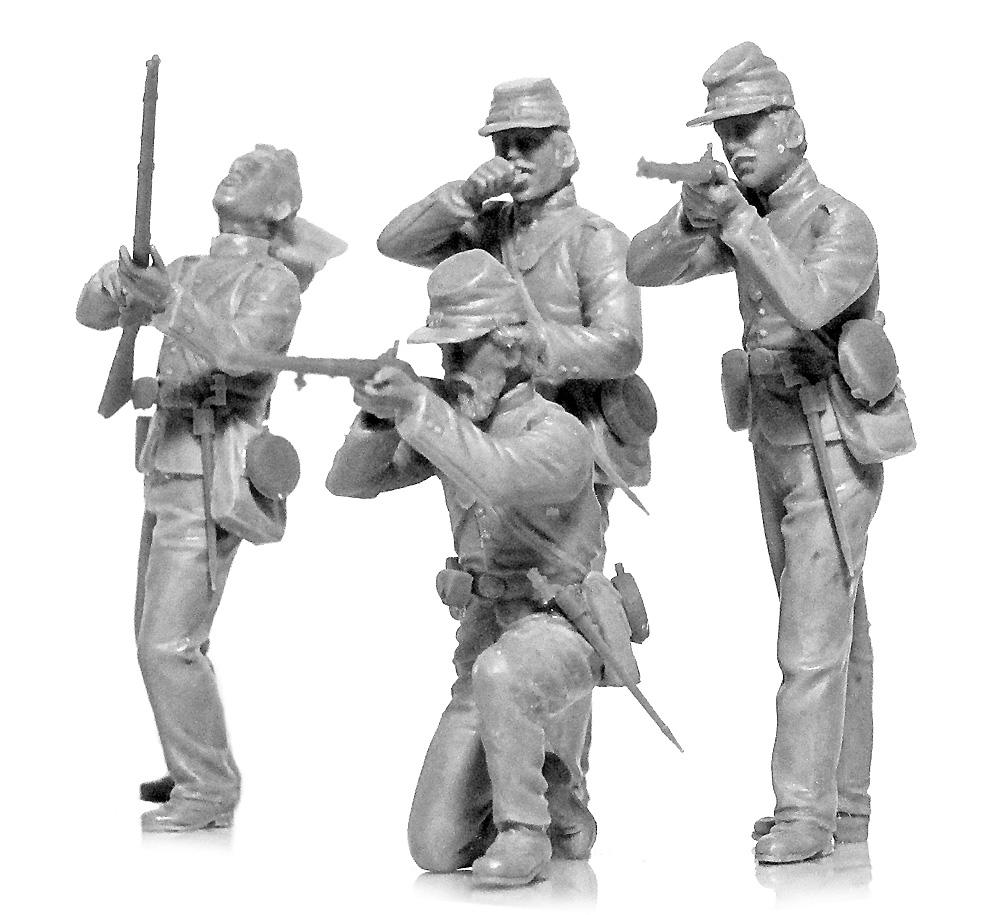 アメリカ 南北戦争 北軍歩兵プラモデル(ICM1/35 ミリタリービークル・フィギュアNo.35020)商品画像_3