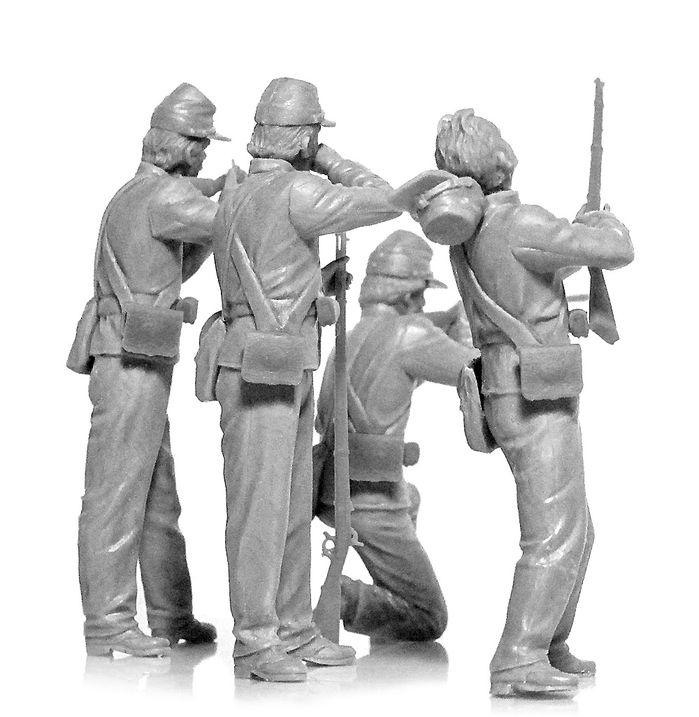アメリカ 南北戦争 北軍歩兵プラモデル(ICM1/35 ミリタリービークル・フィギュアNo.35020)商品画像_4