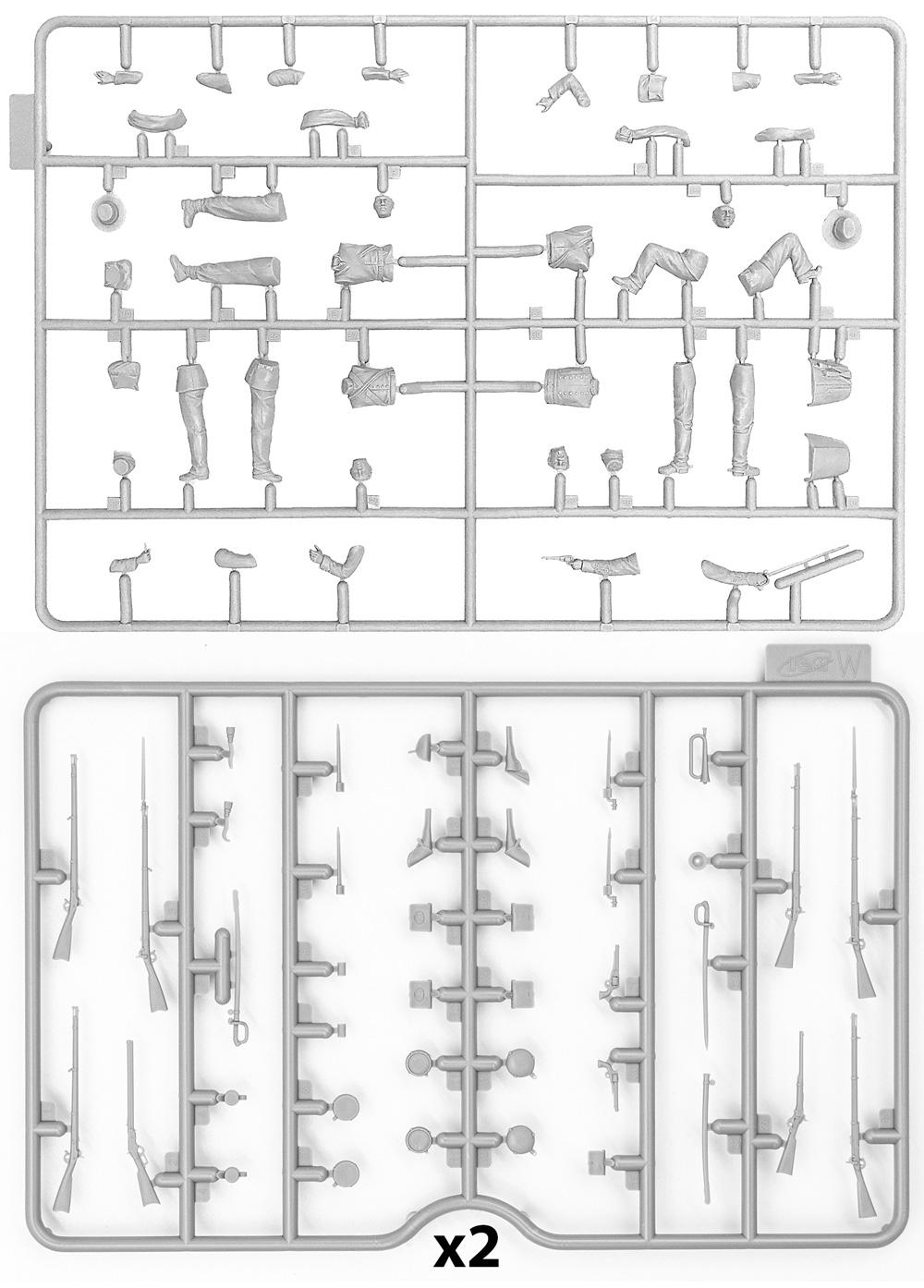 アメリカ 南北戦争 南軍歩兵プラモデル(ICM1/35 ミリタリービークル・フィギュアNo.35021)商品画像_1