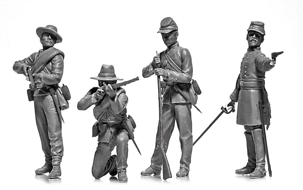 アメリカ 南北戦争 南軍歩兵プラモデル(ICM1/35 ミリタリービークル・フィギュアNo.35021)商品画像_2