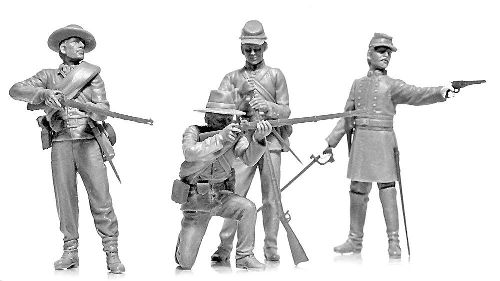 アメリカ 南北戦争 南軍歩兵プラモデル(ICM1/35 ミリタリービークル・フィギュアNo.35021)商品画像_3