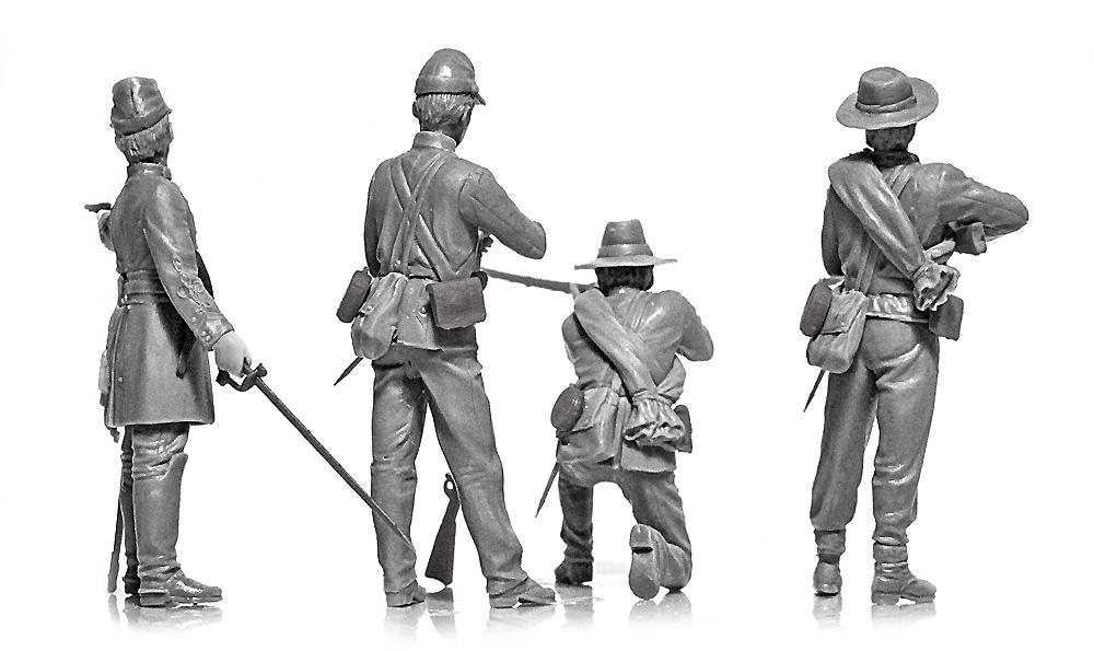 アメリカ 南北戦争 南軍歩兵プラモデル(ICM1/35 ミリタリービークル・フィギュアNo.35021)商品画像_4
