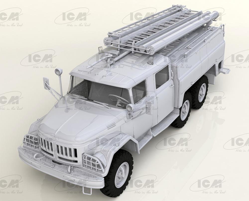 ソビエト AC-40-137A 消防車プラモデル(ICM1/35 ミリタリービークル・フィギュアNo.35519)商品画像_1