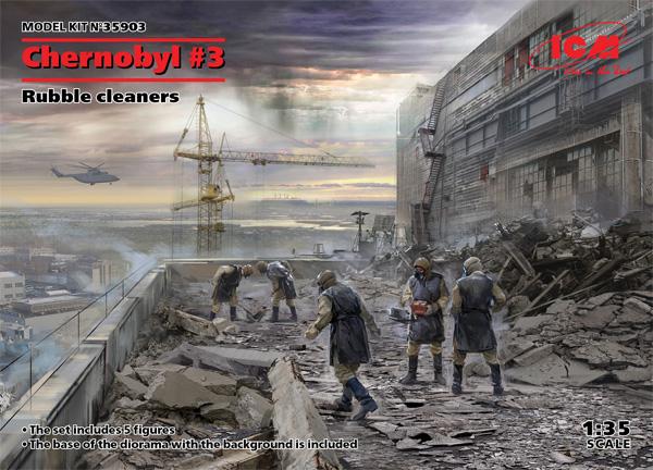 チェルノブイリ #3 瓦礫処理作業員プラモデル(ICM1/35 ミリタリービークル・フィギュアNo.35903)商品画像
