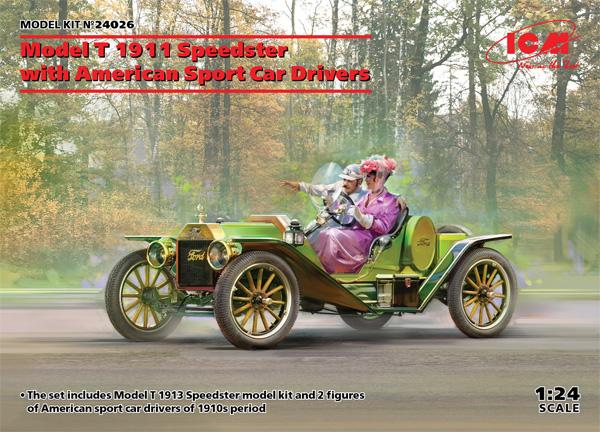T型フォード 1913 スピードスター w/ドライバープラモデル(ICM1/24 カーモデルNo.24026)商品画像