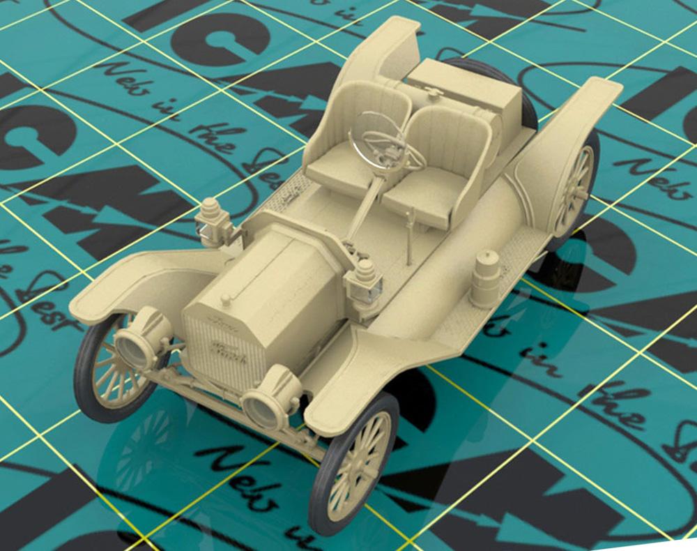 T型フォード 1913 スピードスター w/ドライバープラモデル(ICM1/24 カーモデルNo.24026)商品画像_1