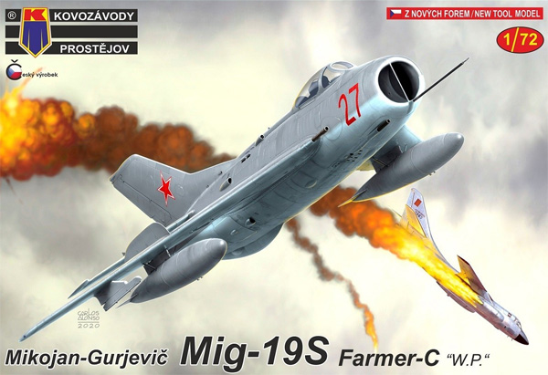 ミコヤン グレビッチ MiG-19S ファーマーC ワルシャワ条約加盟国プラモデル(KPモデル1/72 エアクラフト プラモデルNo.KPM0187)商品画像