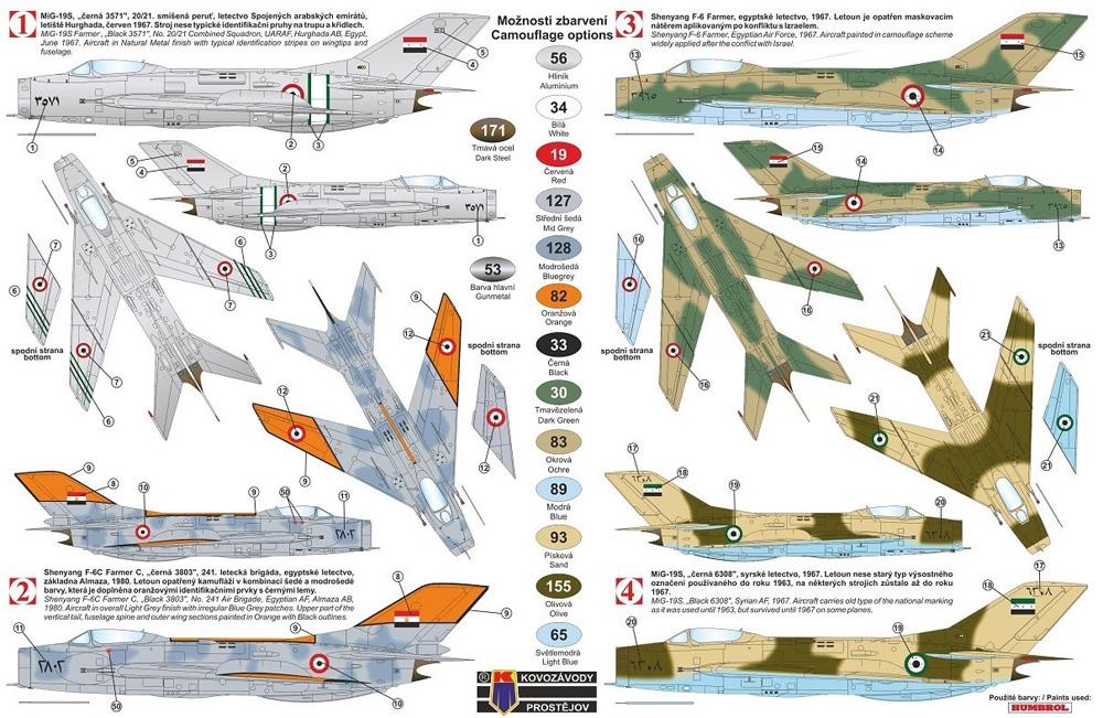 ミコヤン グレビッチ MiG-19S/F-6 ファーマーC アラブ諸国プラモデル(KPモデル1/72 エアクラフト プラモデルNo.KPM0188)商品画像_1
