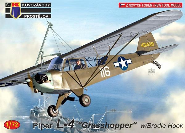 パイパー L-4 グラスホッパー w/ブロディフックプラモデル(KPモデル1/72 エアクラフト プラモデルNo.KPM0191)商品画像