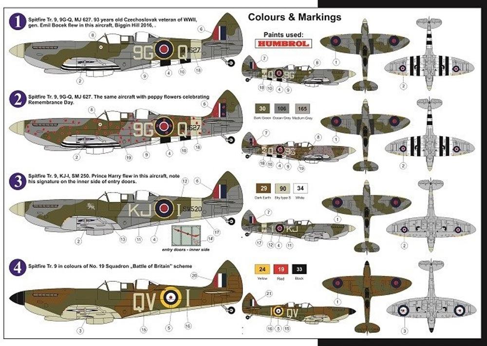 スーパーマリン スピットファイア Tr.9 RAFプラモデル(AZ model1/72 エアクラフト プラモデルNo.AZ7603)商品画像_1