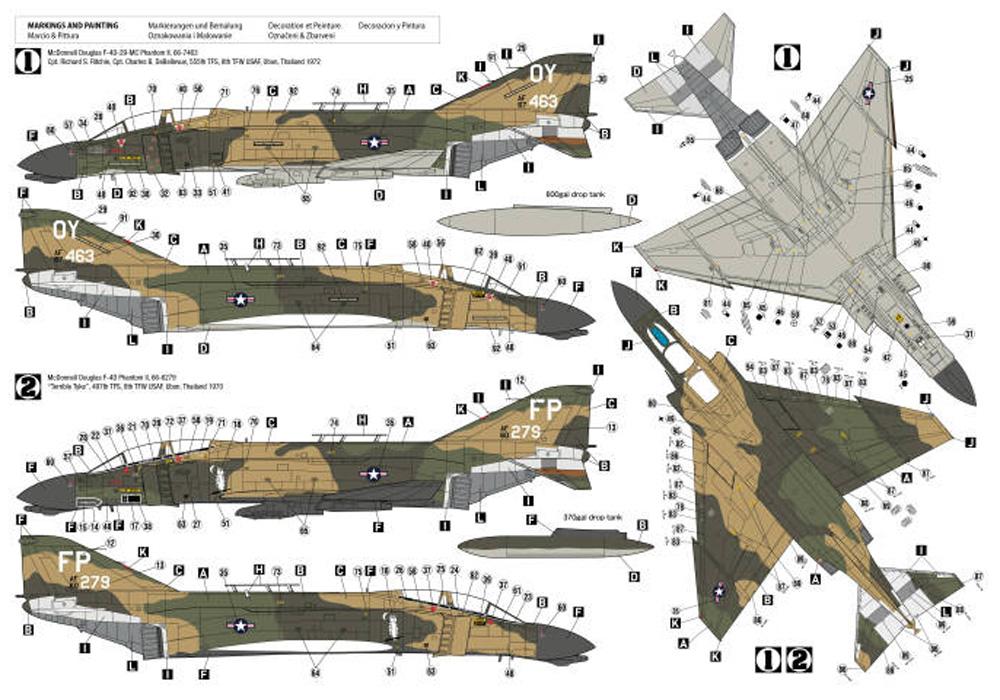 F-4C ファントム 2 ベトナムエース 2プラモデル(HOBBY 20001/72 モデルキットNo.72028)商品画像_2