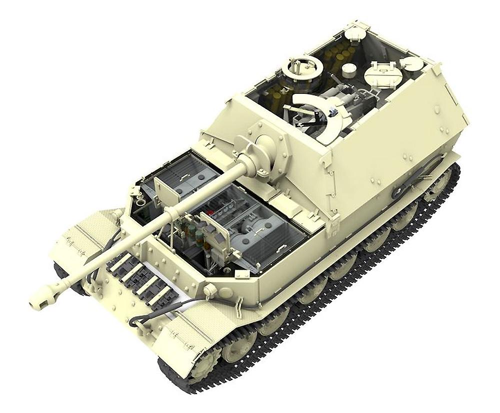 ドイツ 重駆逐戦車 エレファント Sd.Kfz.184 (フルインテリア)プラモデル(アミュージングホビー1/35 ミリタリーNo.35A033)商品画像_1