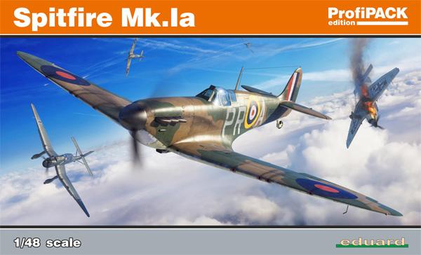 スピットファイア Mk.1aプラモデル(エデュアルド1/48 プロフィパックNo.82151)商品画像