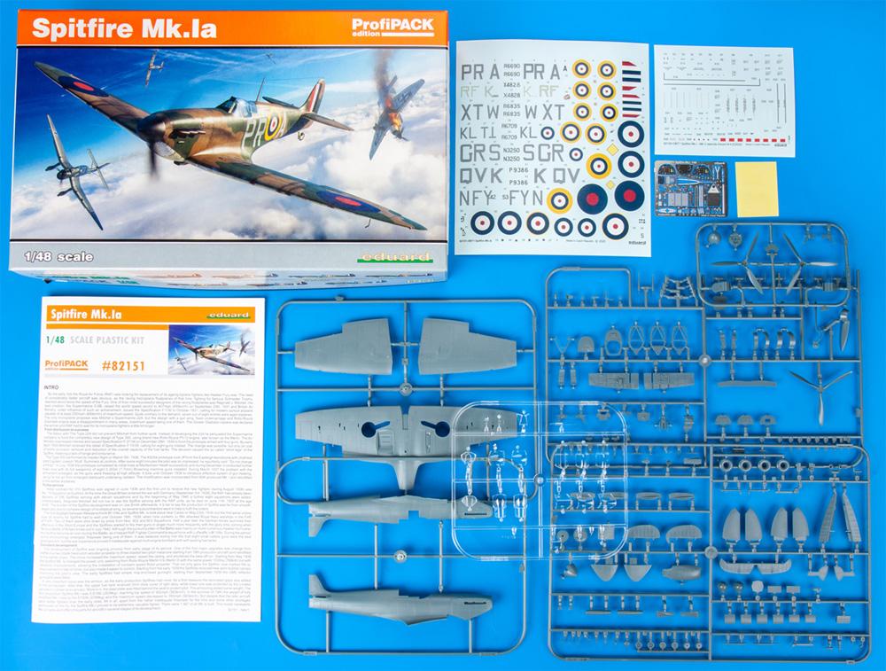 スピットファイア Mk.1aプラモデル(エデュアルド1/48 プロフィパックNo.82151)商品画像_1