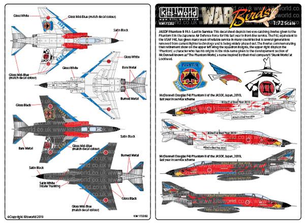 航空自衛隊 F-4EJ改 第302飛行隊 ラストファントム デカールデカール(キッツワールド1/72スケール デカールNo.KW172202)商品画像