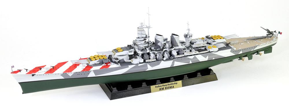 イタリア海軍 ヴィットリオ・ヴェネト級戦艦 ローマ 1943 旗・艦名 ...