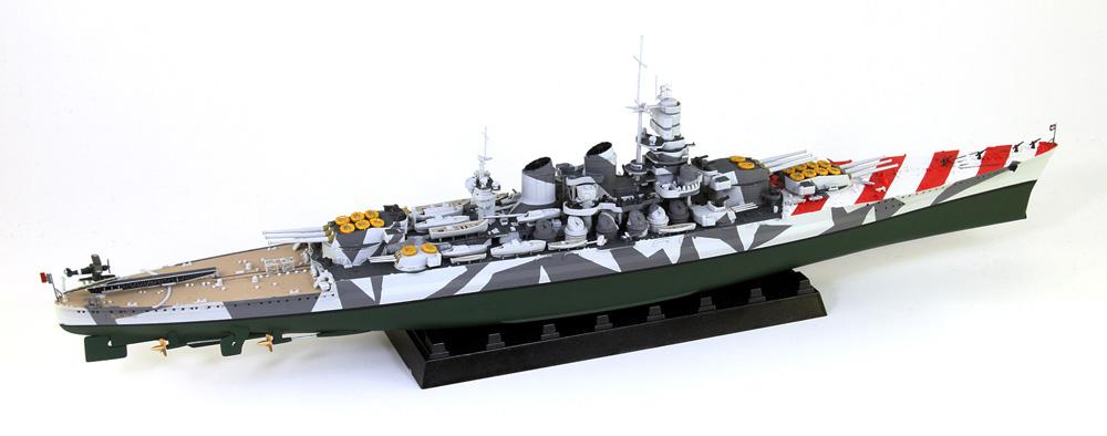 イタリア海軍 ヴィットリオ・ヴェネト級戦艦 ローマ 1943 旗・艦名プレート エッチングパーツ付き 限定版プラモデル(ピットロード1/700 スカイウェーブ W シリーズNo.W183NH)商品画像_3