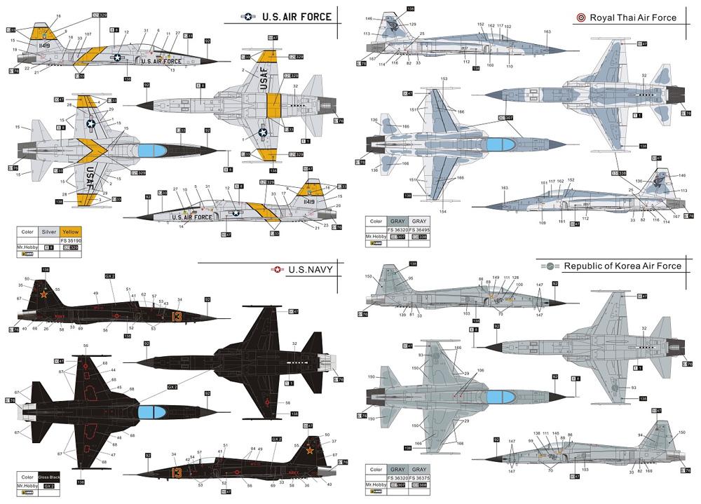 F-5E タイガー 2 初期型プラモデル(ドリームモデル1/72 航空機モデルNo.DM720013)商品画像_1
