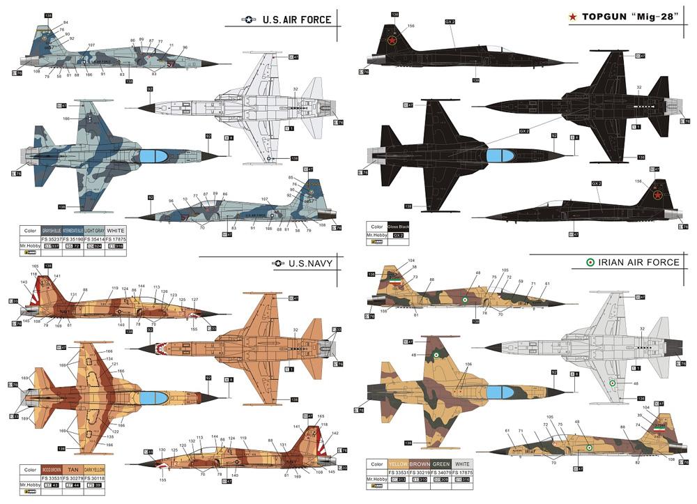 F-5E タイガー 2 初期型プラモデル(ドリームモデル1/72 航空機モデルNo.DM720013)商品画像_2