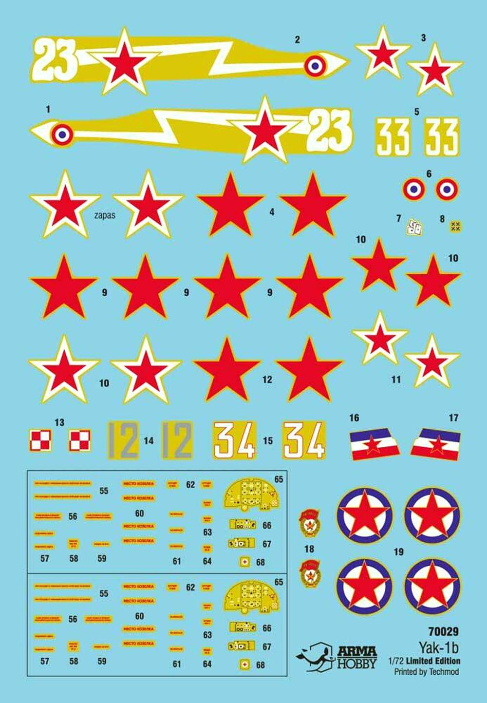 ヤコヴレフ Yak-1b 連合軍 リミテッドエディションプラモデル(アルマホビー1/72 エアクラフト プラモデルNo.70029)商品画像_1