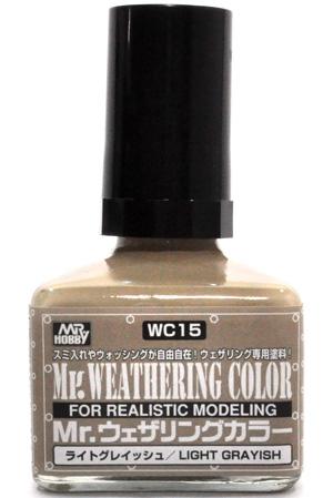ライトグレイッシュ塗料(GSIクレオスMr.ウェザリングカラー フィルタ・リキッドNo.WC015)商品画像