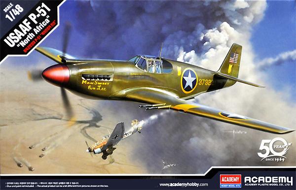 USAF P-51 マスタング 北アフリカ戦線プラモデル(アカデミー1/48 AircraftsNo.12338)商品画像