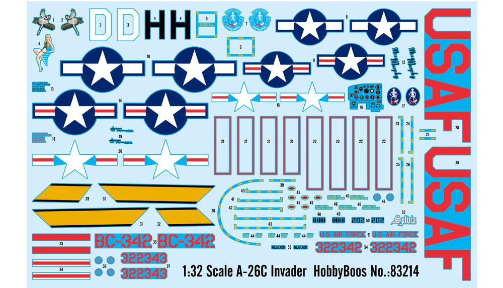 A-26C インベーダープラモデル(ホビーボス1/32 エアクラフト シリーズNo.83214)商品画像_2