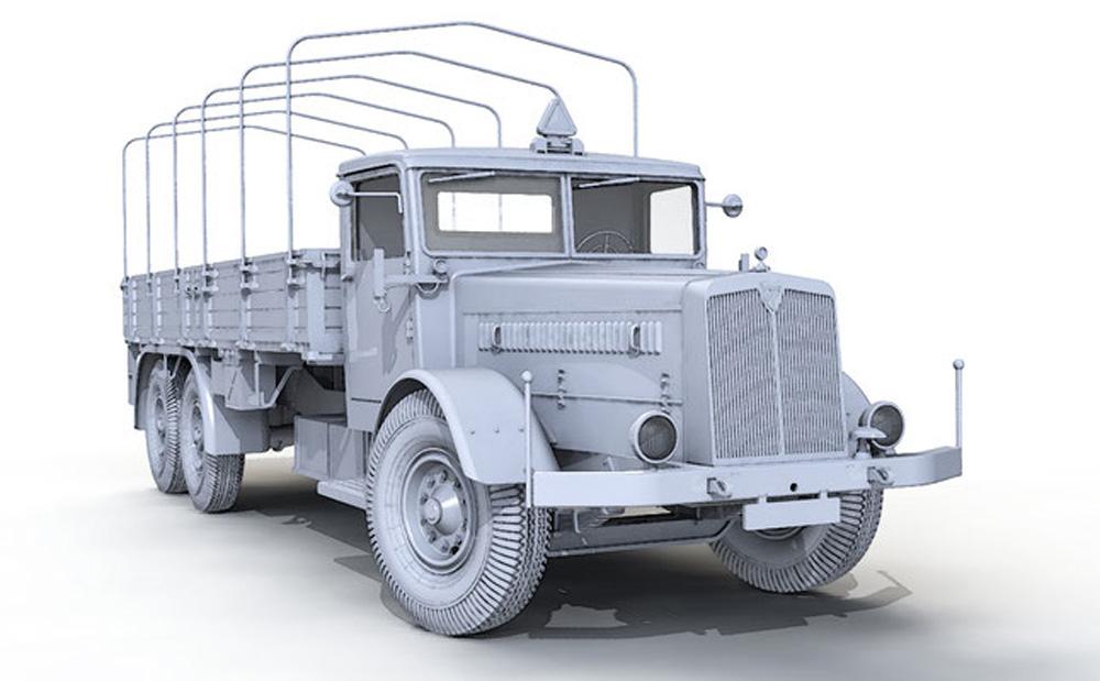 ドイツ 9t 運搬トラック ファウン L900 ハードトップ incl. ソフトトップ キャブ 2in1プラモデル(ダス ヴェルク1/35 ミリタリーNo.DW35001)商品画像_2