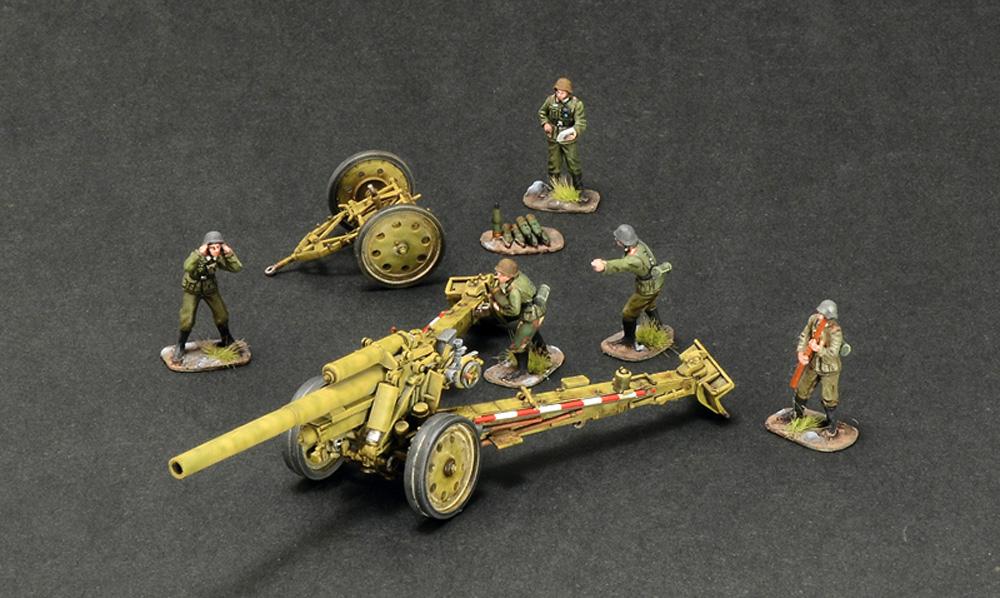 ドイツ 15cm sFH18 重榴弾砲 / 10.5cm sK18 重野砲 2in1 砲兵フィギュア付属プラモデル(イタレリ1/72 ミリタリーシリーズNo.7082)商品画像_3