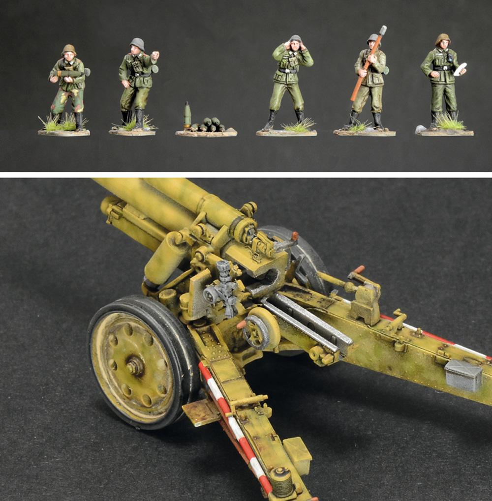 ドイツ 15cm sFH18 重榴弾砲 / 10.5cm sK18 重野砲 2in1 砲兵フィギュア付属プラモデル(イタレリ1/72 ミリタリーシリーズNo.7082)商品画像_4