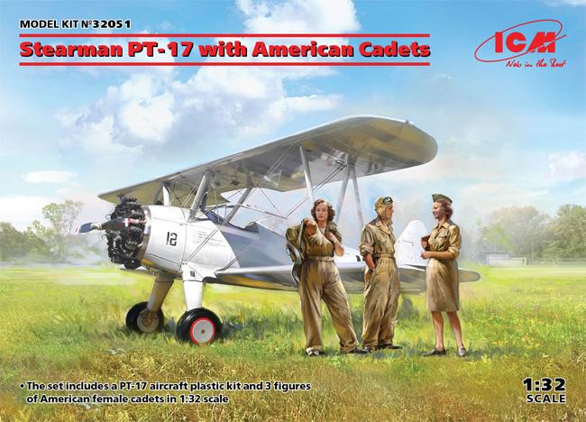 ステアマン PT-17 w/女性士官候補生プラモデル(ICM1/32 エアクラフトNo.32051)商品画像