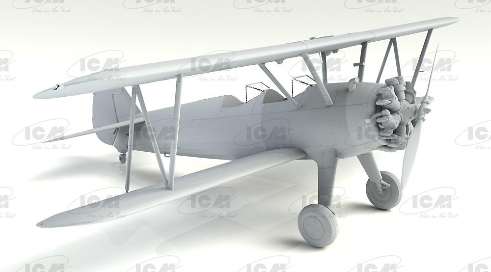 ステアマン PT-17 w/女性士官候補生プラモデル(ICM1/32 エアクラフトNo.32051)商品画像_4