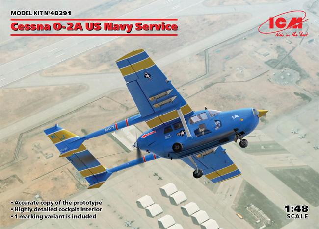 セスナ O-2A アメリカ海軍プラモデル(ICM1/48 エアクラフト プラモデルNo.48291)商品画像