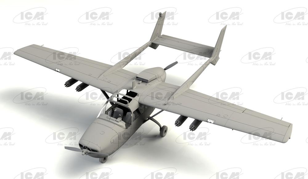 セスナ O-2A アメリカ海軍プラモデル(ICM1/48 エアクラフト プラモデルNo.48291)商品画像_1