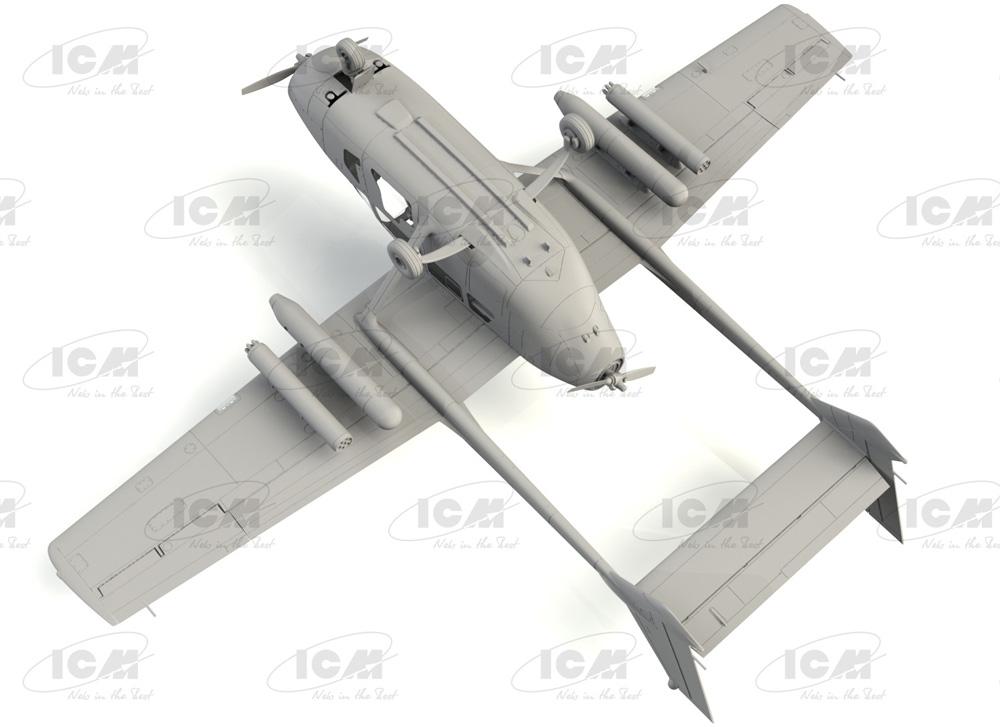 セスナ O-2A アメリカ海軍プラモデル(ICM1/48 エアクラフト プラモデルNo.48291)商品画像_3