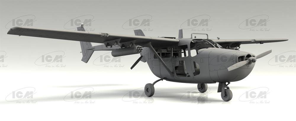 セスナ O-2A アメリカ海軍プラモデル(ICM1/48 エアクラフト プラモデルNo.48291)商品画像_4