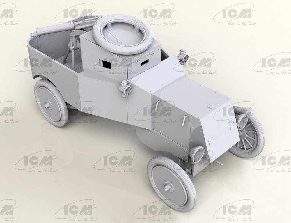 T型フォード RNAS 装甲車 w/WW1 イギリス戦車兵プラモデル(ICM1/35 ミリタリービークル・フィギュアNo.35670)商品画像_1