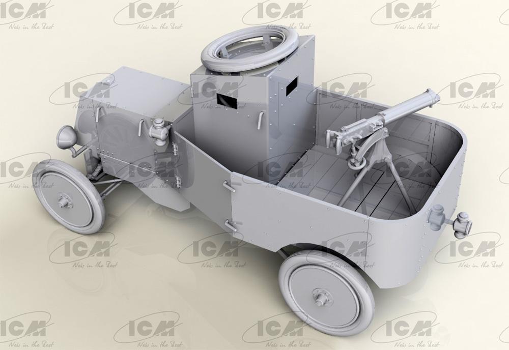 T型フォード RNAS 装甲車 w/WW1 イギリス戦車兵プラモデル(ICM1/35 ミリタリービークル・フィギュアNo.35670)商品画像_4