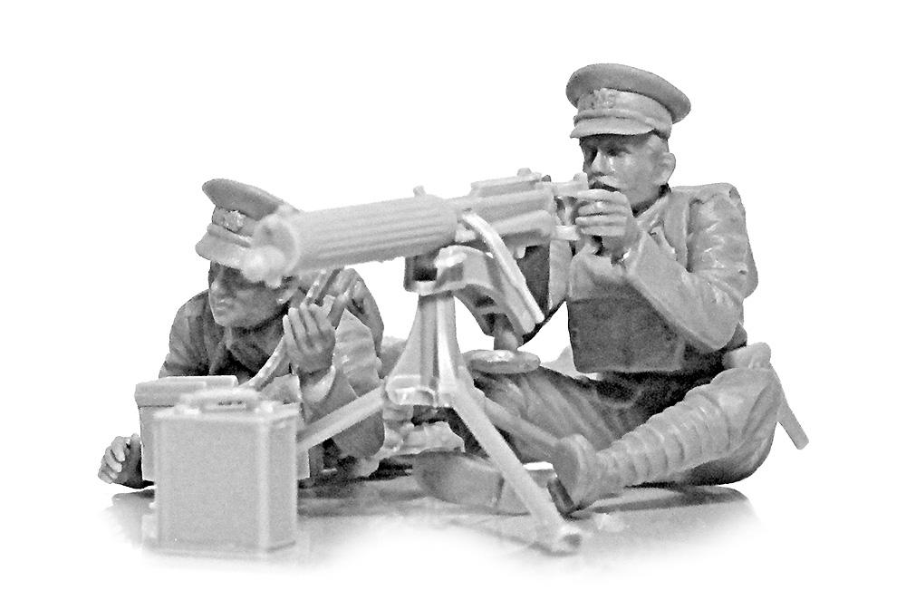 WW1 イギリス ヴィッカース重機関銃 クループラモデル(ICM1/35 ミリタリービークル・フィギュアNo.35713)商品画像_1