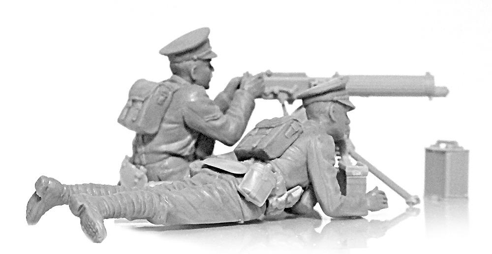 WW1 イギリス ヴィッカース重機関銃 クループラモデル(ICM1/35 ミリタリービークル・フィギュアNo.35713)商品画像_2
