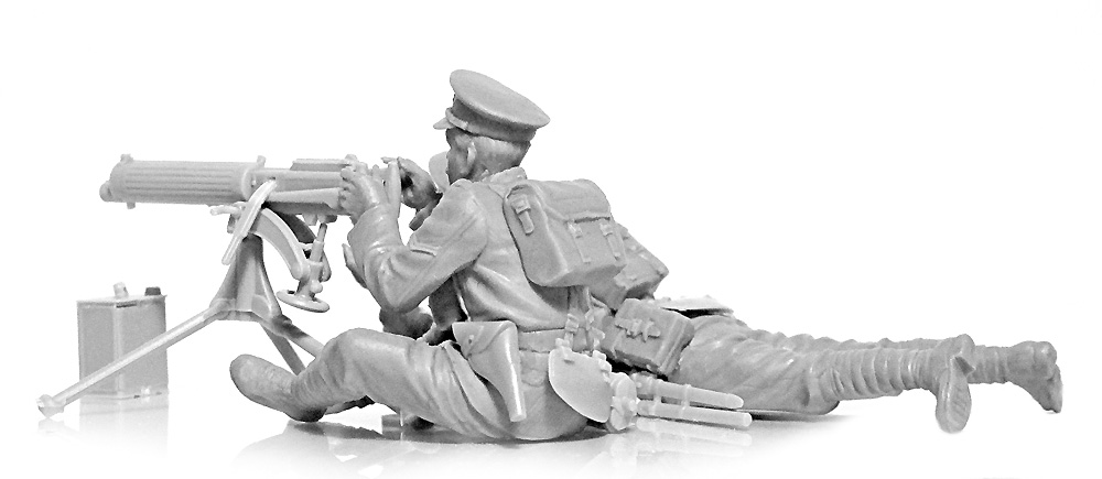 WW1 イギリス ヴィッカース重機関銃 クループラモデル(ICM1/35 ミリタリービークル・フィギュアNo.35713)商品画像_4