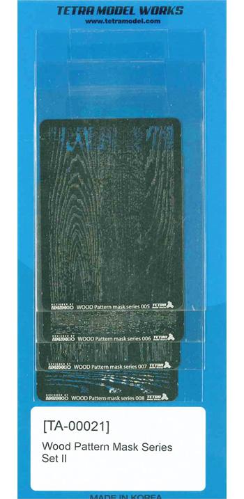 木目パターン マスクセット 2テンプレート(テトラモデルワークス汎用 アクセサリーパーツNo.TA-00021)商品画像