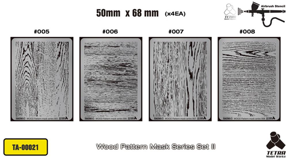 木目パターン マスクセット 2テンプレート(テトラモデルワークス汎用 アクセサリーパーツNo.TA-00021)商品画像_1