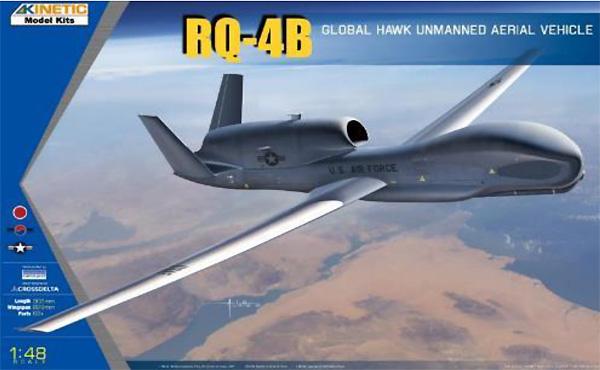 RQ-4B グローバルホーク 無人偵察機プラモデル(キネティック1/48 エアクラフト プラモデルNo.K48084)商品画像
