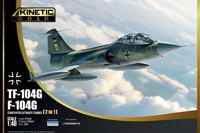 F-104G / TF-104G スターファイター ドイツ空軍 2in1プラモデル(キネティック1/48 エアクラフト プラモデルNo.K48089)商品画像