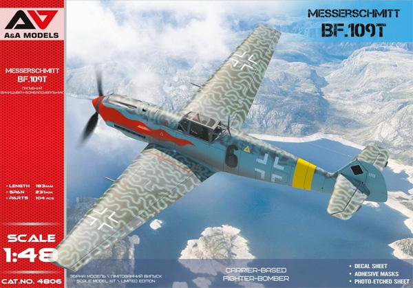メッサーシュミット Bf109Tプラモデル(A&A MODELS1/48 プラスチックモデルNo.4806)商品画像