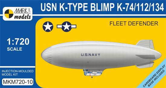USN K級 軟式飛行船 K-74/112/134 艦隊哨戒網プラモデル(MARK 1ミリタリー インジェクションキットNo.MKM720-10)商品画像