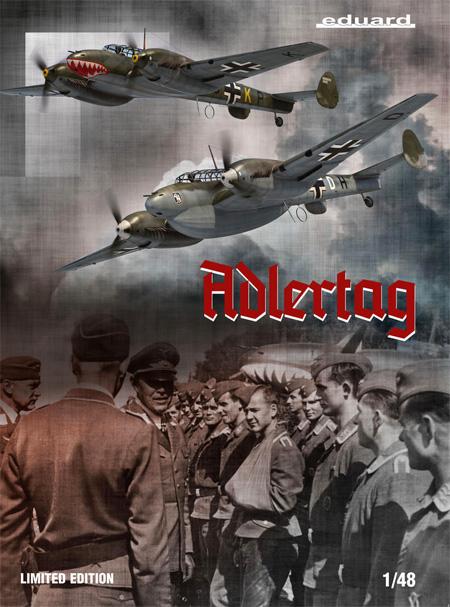 鷹の日 メッサーシュミット Bf110C/D バトル オブ ブリテンプラモデル(エデュアルド1/48 リミテッドエディションNo.11145)商品画像