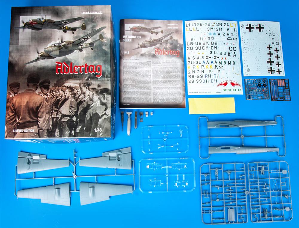 鷹の日 メッサーシュミット Bf110C/D バトル オブ ブリテンプラモデル(エデュアルド1/48 リミテッドエディションNo.11145)商品画像_1