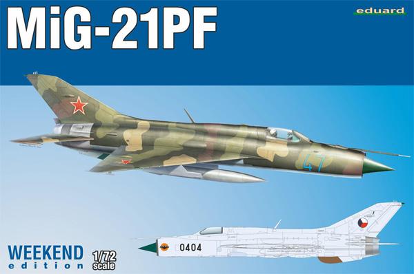 MiG-21PFプラモデル(エデュアルド1/72 ウィークエンド エディションNo.7455)商品画像